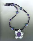 Amethyst and Charoite Necklace