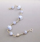 Blue Lace Agate and Lampwork Bracelet