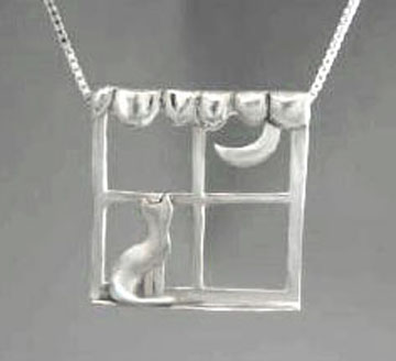 Cat In The Window Pendant