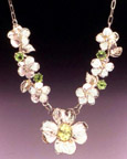 Dogwood and Apple Blossom Necklace